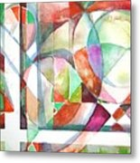 Red And Green Metal Print by Mindy Newman