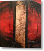 Red Circle Of Life Metal Print by Ellen Beauregard