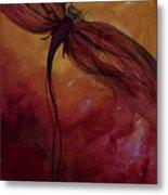 Red Dragonfly Metal Print by Julie Lueders