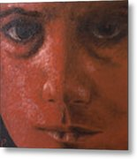 Red Face Metal Print by Ralph Papa