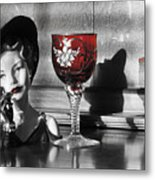 Red Hat Lady Metal Print by Greg Sharpe