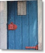 Red Hinges Metal Print by Bob Whitt