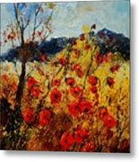 Red Poppies In Provence  Metal Print by Pol Ledent