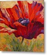 Red Poppy II Metal Print by Marion Rose