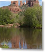 Red Rock Crossing In Sedona Metal Print by Sandra Bronstein