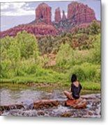 Red Rock Crossing -  Sedona Arizona Usa Metal Print by Tony Crehan