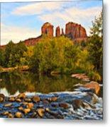 Red Rock Crossing Three Metal Print by Paul Basile