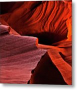 Red Rock Inferno Metal Print by Mike  Dawson
