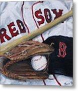 Red Sox Number Six Metal Print by Jack Skinner