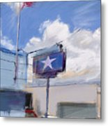 Red White And Blue Metal Print by Russell Pierce