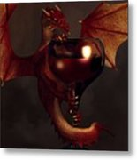 Red Wine Dragon Metal Print by Daniel Eskridge