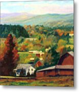 Reeds Farm Ithaca New York Metal Print by Ethel Vrana