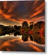 Reflecting Autumn Metal Print by Kim Shatwell-Irishphotographer