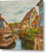 Reflections Of Colmar Metal Print by Charlotte Blanchard