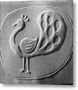 Relief Peacock Metal Print by Suhas Tavkar