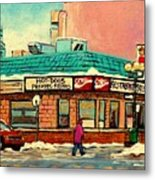 Restaurant Greenspot Deli Hotdogs Metal Print by Carole Spandau