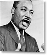 Rev. Martin Luther King, Speaking Metal Print by Everett