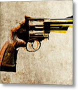 Revolver Metal Print by Michael Tompsett