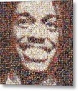 Rg3 Redskins History Mosaic Metal Print by Paul Van Scott