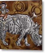 Rhino Mechanics Metal Print by Tai Taeoalii