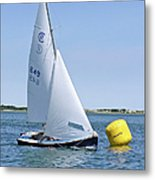 Rhodes 18 Rounding The Mark Metal Print by Charles Harden