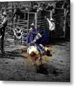 Ride The Thunder Metal Print by Amanda Eberly-Kudamik