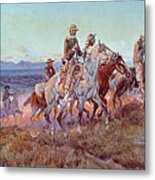 Riders Of The Open Range Metal Print by Charles Marion Russell