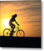 Riding At Sunset Metal Print by Dave Fleetham - Printscapes