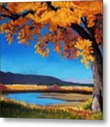River Cottonwood Metal Print by Candy Mayer