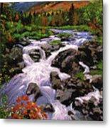 River Sounds Metal Print by David Lloyd Glover