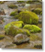 River Stones Metal Print by Paul Bartoszek