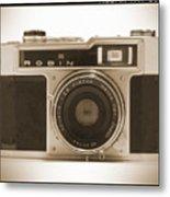 Robin 35mm Rangefinder Camera Metal Print by Mike McGlothlen