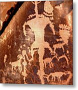 Rock Art Of The Ancients Metal Print by The Forests Edge Photography - Diane Sandoval