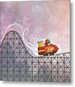 Rocket Me Rollercoaster Metal Print by Dennis Wunsch