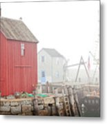Rockport Fog Metal Print by Susan Cole Kelly