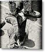 Rodeo Boots And Spurs Metal Print by Gus McCrea