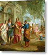 Roland Learns Of The Love Of Angelica And Medoro  Metal Print by Louis Galloche