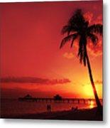 Romantic Sunset Metal Print by Melanie Viola