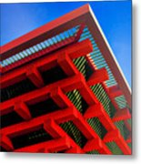 Roof Corner - Expo China Pavilion Shanghai Metal Print by Christine Till