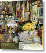 Room Of Flowers, 1894 Metal Print by Granger