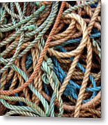Rope Background Metal Print by Carlos Caetano