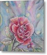Rose Metal Print by Laura Laughren