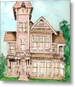 Rose Victorian Inn - Arroyo Grande Ca 1886 Metal Print by Arline Wagner