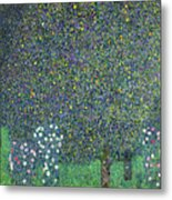 Roses Under The Trees Metal Print by Gustav Klimt
