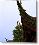 Row Of Chinese Rooftops Metal Print by Christine Till