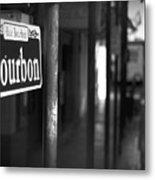 Rue Bourbon Metal Print by John Gusky