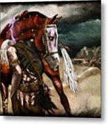 Ruined Empires - Skin Horse  Metal Print by Mandem