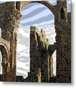Ruins On The Holy Island Metal Print by Carl Purcell