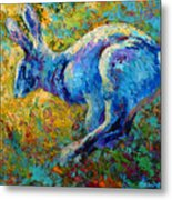 Running Hare Metal Print by Marion Rose