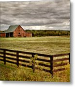 Rural Tennessee Red Barn Metal Print by Cheryl Davis